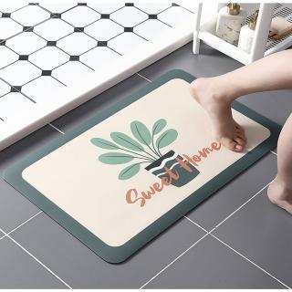 【DaoDi】真第二代彩繪軟式硅藻土吸水地墊(軟式珪藻土 浴室踏墊 腳踏墊 止滑墊 足墊)