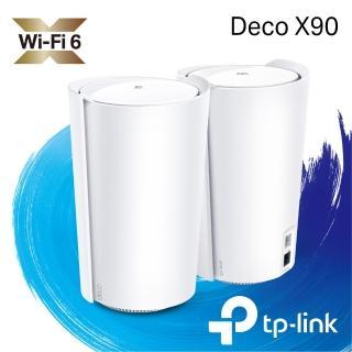 【無線滑鼠組】TP-Link Deco X90 AX6600 AI-智慧漫遊 三頻無線網路WiFi 6 網狀Mesh Wi-Fi路由器(2入) +滑鼠