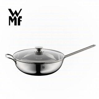 【德國WMF】不鏽鋼單手中式炒鍋+蓋 30cm(贈炒鍋鏟)
