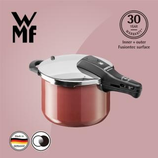 【德國WMF】Fusiontec Perfect 快力鍋6.5L(赭紅色)+主廚刀34cm