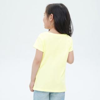 【GAP】女童 可愛純棉印花短袖T恤(697516-黃色)