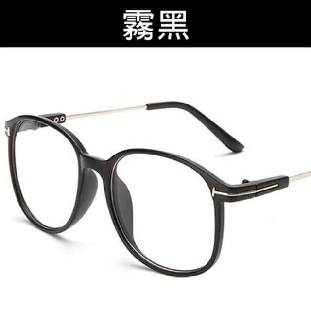 【OT SHOP】眼鏡框 平光眼鏡 圓框細框T字金屬裝飾設計 F06(文青復古俏皮造型)