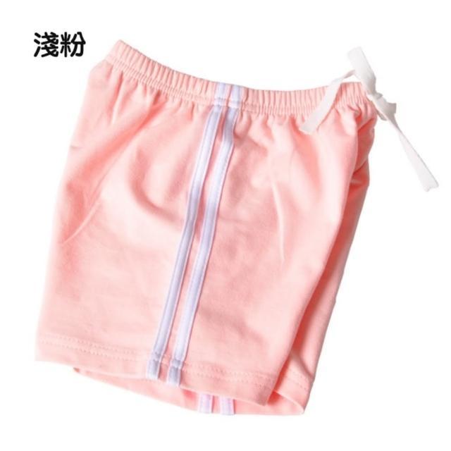 【橘魔法】運動風側邊織帶毛圈棉短褲(褲子 運動短褲 大童 中性款 男童 女童 中童 童裝)