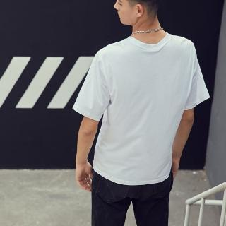 【GUESS】男裝-素色經典倒三角小LOGO短T-白(MJ2K9424KWHT)