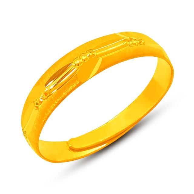 【葳絲姬金飾】6選1 9999純金戒指/尾戒 一生順遂百財來-0.5錢±3厘(活動戒圍)