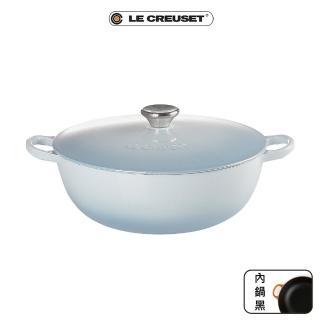 【Le Creuset】琺瑯鑄鐵媽咪鍋26cm+B鏟杓(多色任選)