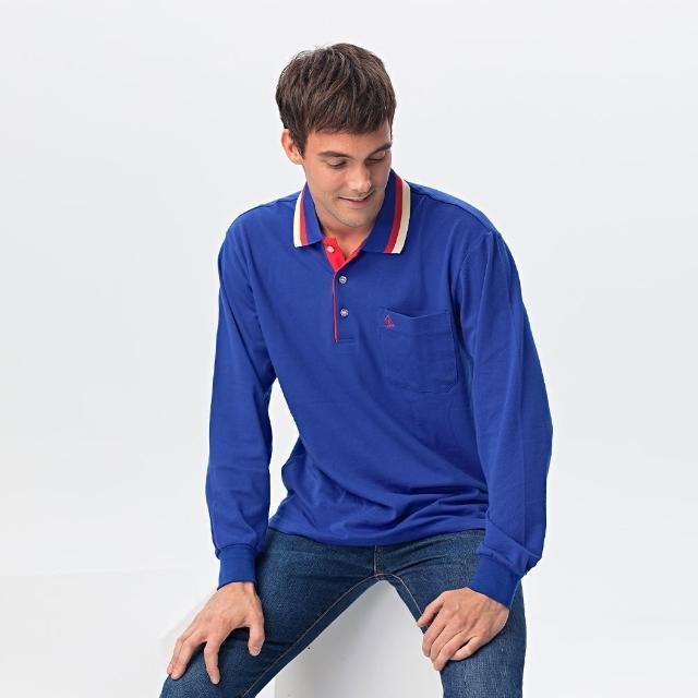 【PAUL SAILING】好棉精選快乾棉排汗長袖POLO衫(五色)