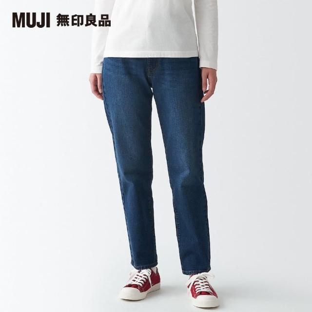 【MUJI 無印良品】女有機棉混彈性丹寧直筒褲(共2色)