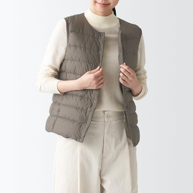 【MUJI 無印良品】女輕量澳洲羽絨可攜式背心(共7色)