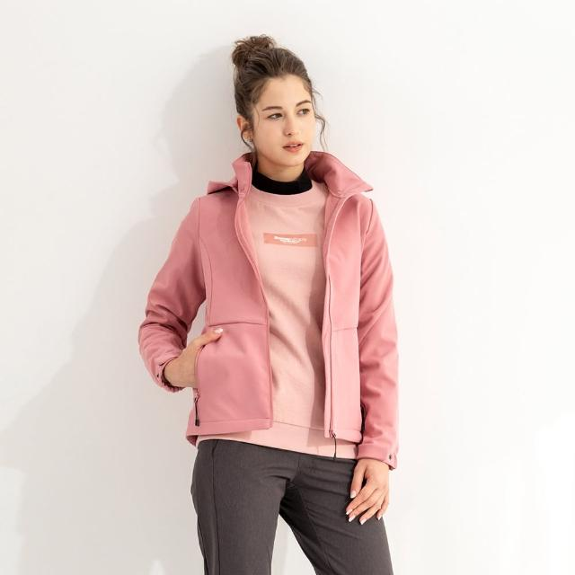 【Hang Ten】男女裝-恆溫多功能-貼合刷毛防輕潑水可拆帽軟殼外套(多款選)