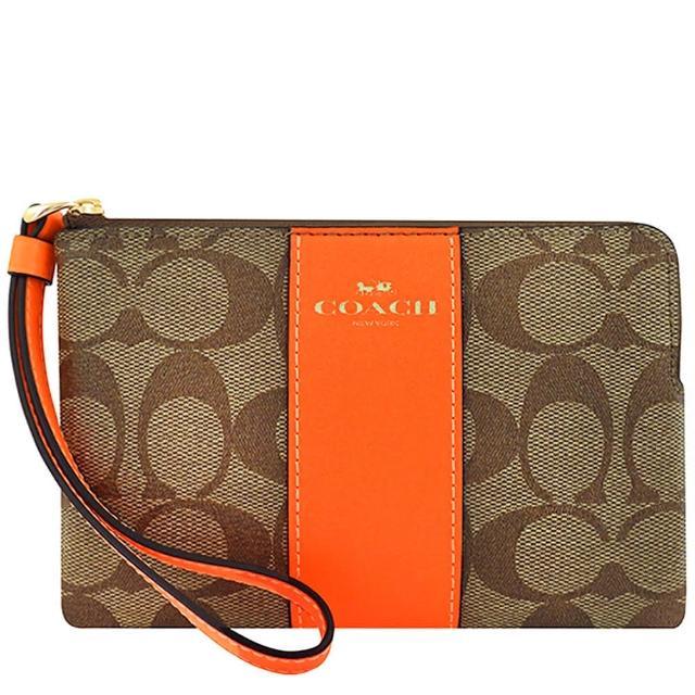【COACH】大C PVC/皮革手拿包/識別證件夾/零錢包(多款多色任選)