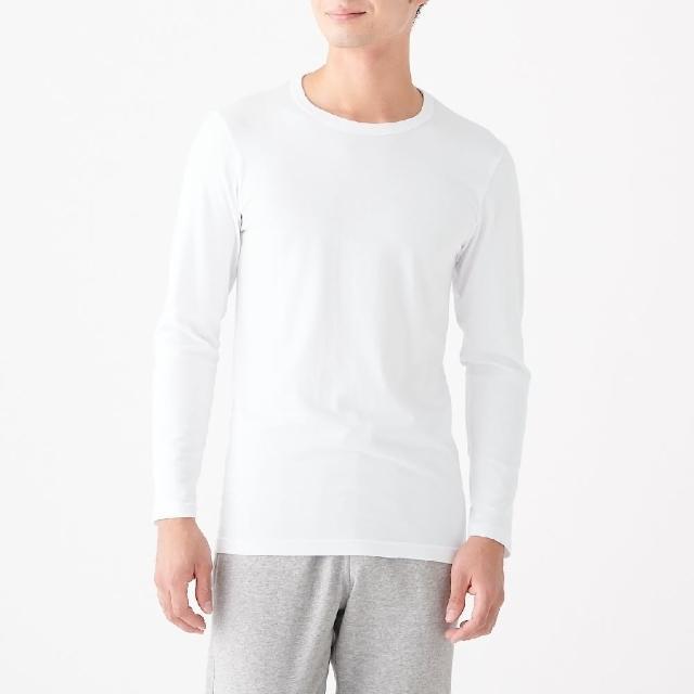 【MUJI 無印良品】男有機棉保暖圓領長袖T恤(共3色)
