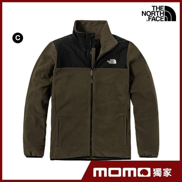 【The North Face】MOMO經典組合-入秋保暖男女款抓絨外套(多款可選)